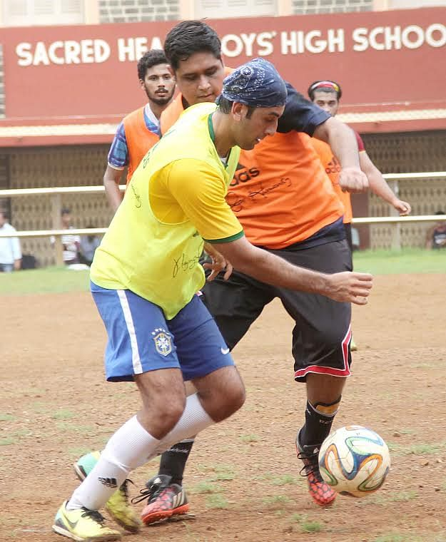 Ranbir Kapoor takes his game very seriously! (Photo: Yogen Shah)