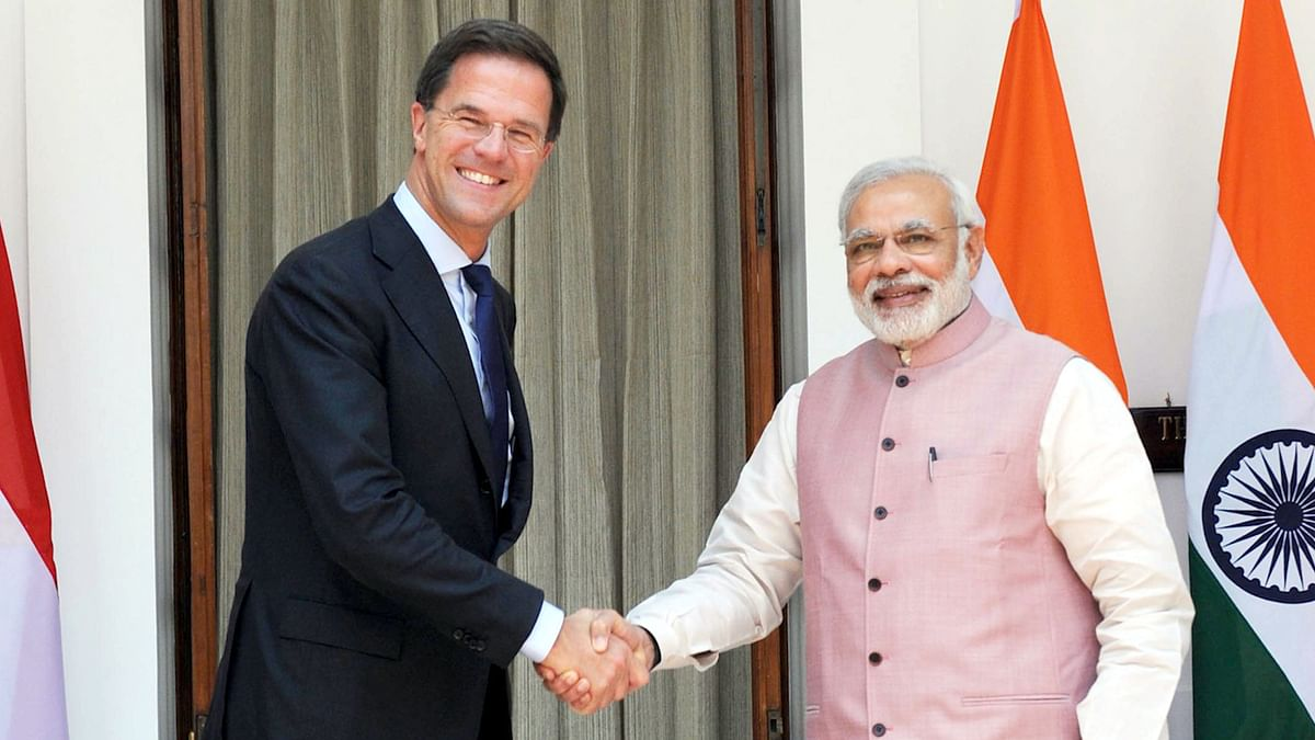 Netherlands Prime Minister Mark Rutte and Indian Prime Minister Narendra Modi (Photo: PIB)