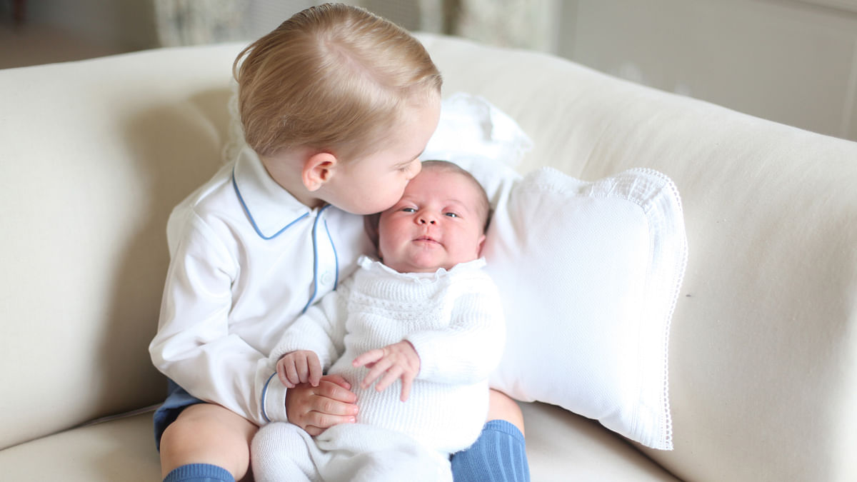 First picture of Prince George and Princess Charlotte of Cambridge, released by the official Twitter handle of Kensington Palace. (Photo: Reuters)