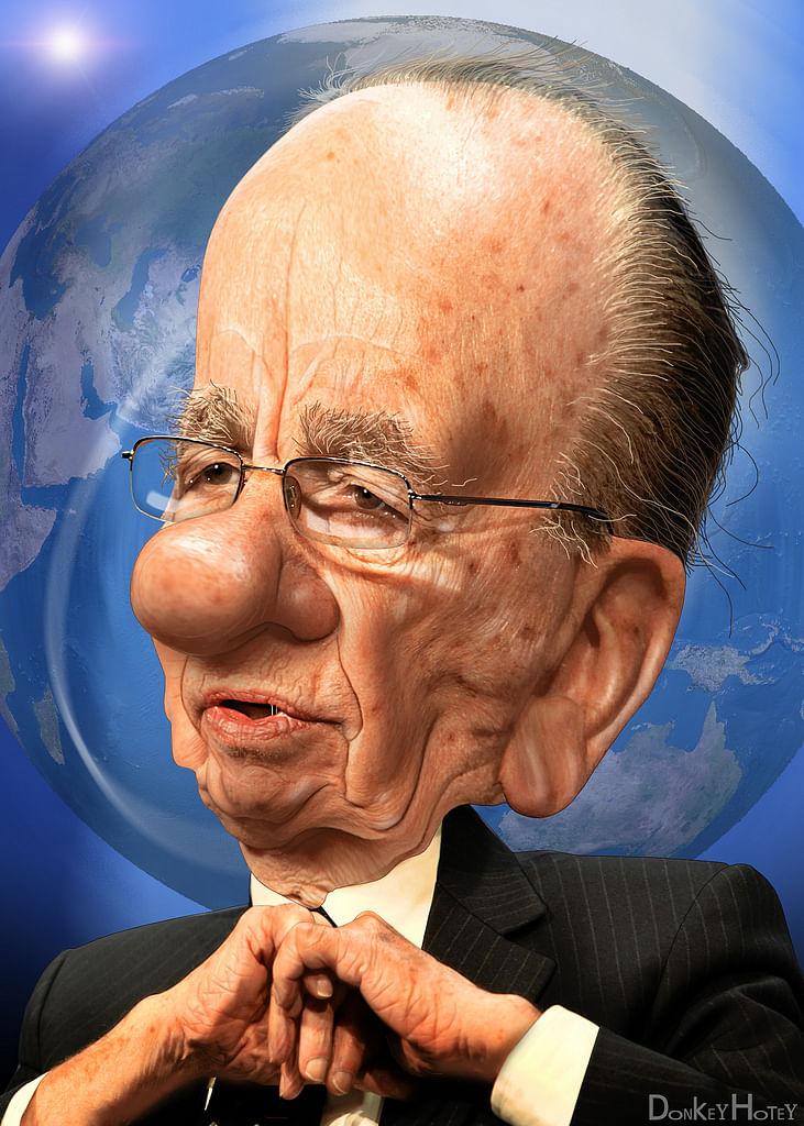 Rupert Murdoch's caricature.