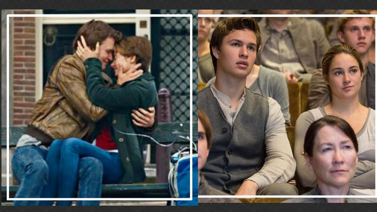 Ansel Elgort and Shailene Woodley as lovers in <i>The&nbsp;Fault in Our Star</i>s and as siblings in <i>Divergent</i> (r)