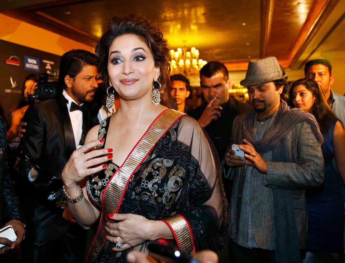 Madhuri Dixit goes black and gold at IIFA 2013(Photo: Reuters)