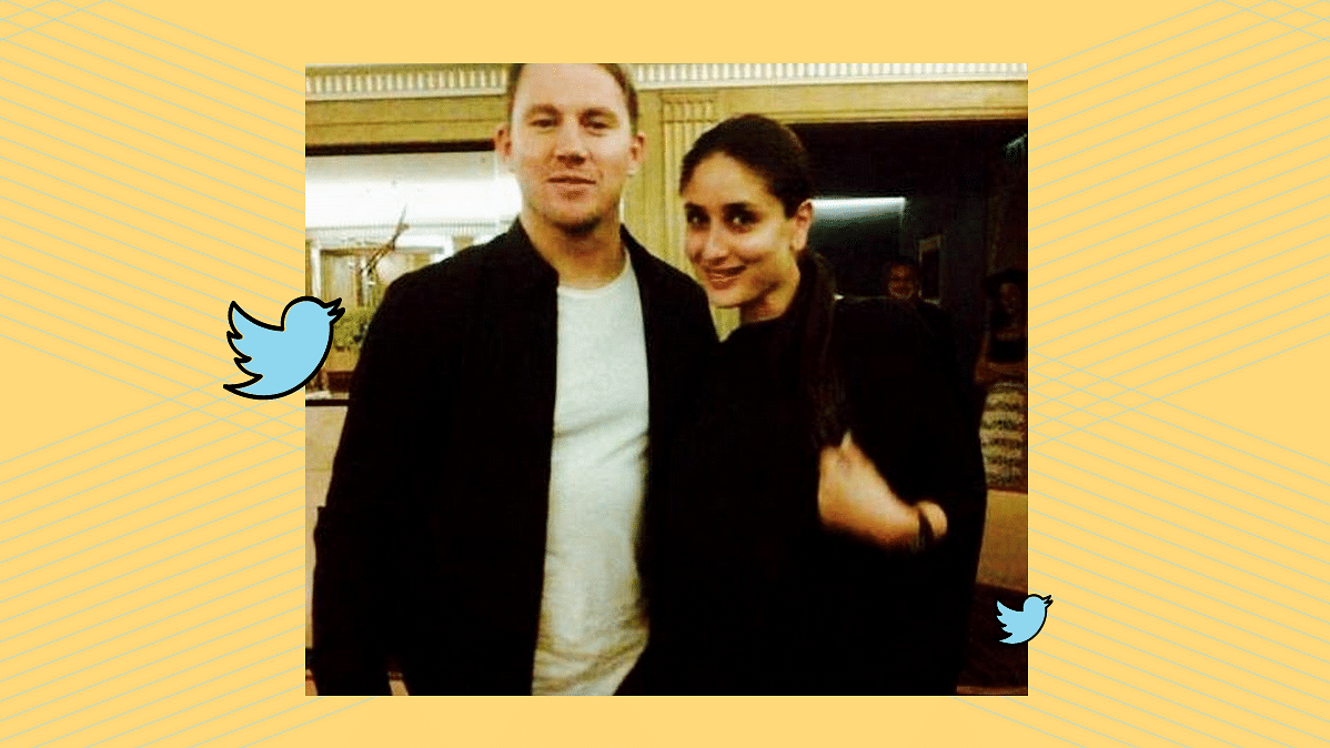 """Snapped: Channing Tatum with Kareena Kapoor Khan in London (Photo: <a href=""""https://twitter.com/KareenaOnline"""">Twitter/@kareenakapooronline</a>)"""