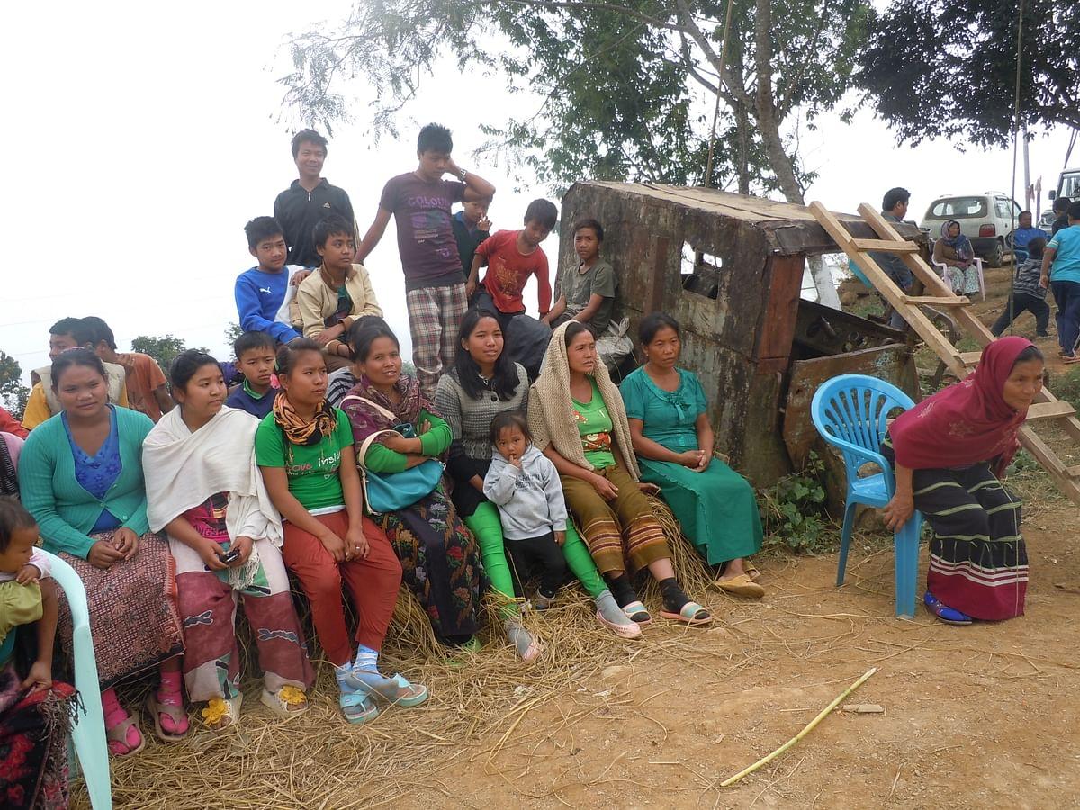 <!--EndFragment-->Women attending a village meeting in Paraolon. (Photo: Maitreyee Handique)