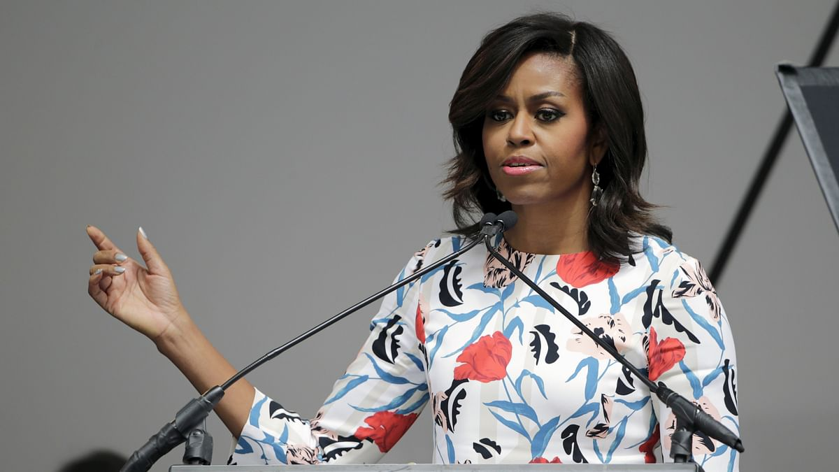 The US first lady Michelle Obama slammed Donald Trump for his sexist remarks. (Photo: Reuters)
