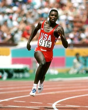 """Legendary Olympian Carl Lewis in action . (Photo Courtesy:<a href=""""http://yunga-youth.weebly.com/carl-lewis.html""""> Youth &amp; United Nations</a>)"""
