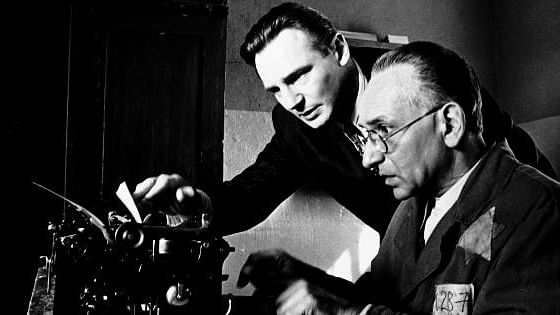 """The typewriter was the most powerful symbol of anti-Nazi resistance in the movie <i>Schindler's List</i>. (Photo: <a href=""""https://www.facebook.com/SchindlersListMovie?ref=br_rs"""">Facebook/Schindler's List</a>)"""