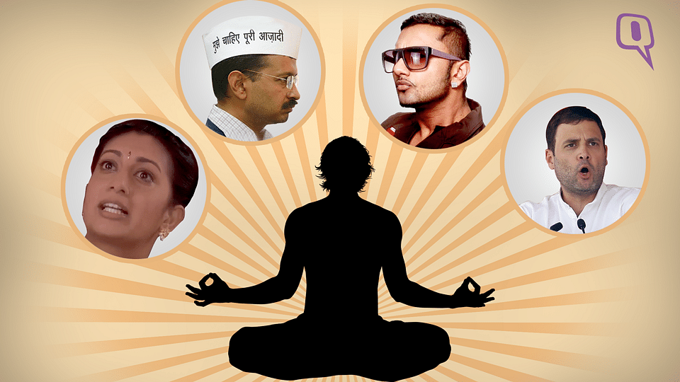 Find out why Honey Singh, Arvind Kejriwal needs to do yoga. (Photo: Image has been altered by The Quint)