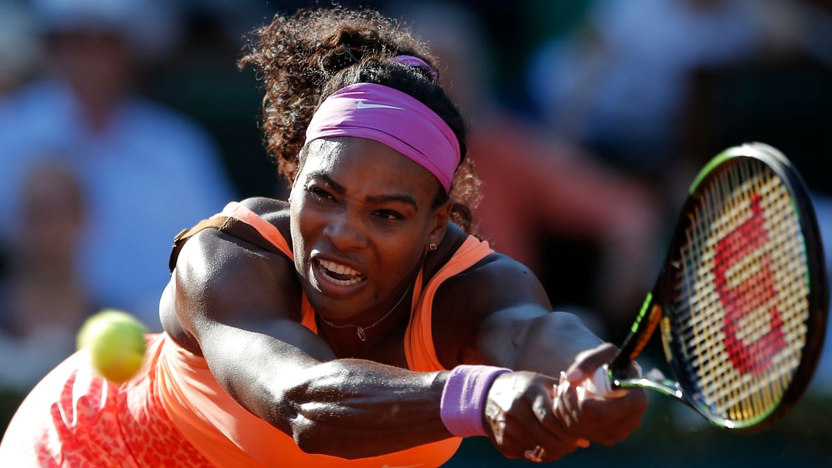 Serena Williams in action during the French Open. (Photo: AP)