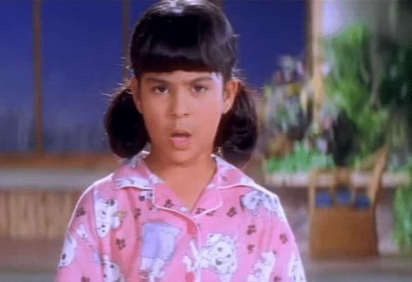 """Sana Saeed was the cute little Anjali in <i>Kuch Kuch Hota Hai</i>, 1998 (Photo: <a href=""""https://www.youtube.com/watch?v=tE_u_myMA2c"""">YouTube/Dharma Productions</a>)"""