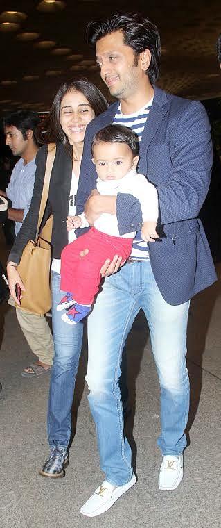 Riteish & Genelia with son Riaan (Photo: Yogen Shah)