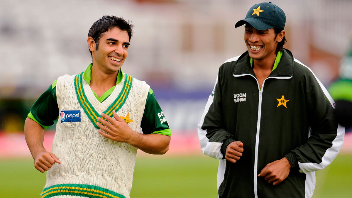 Salman Butt and Mohammad Aamer before the 2010 match against England. (Photo: Reuters)