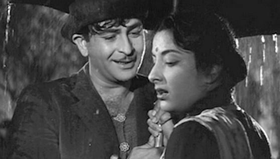 Raj Kapoor with Nargis.