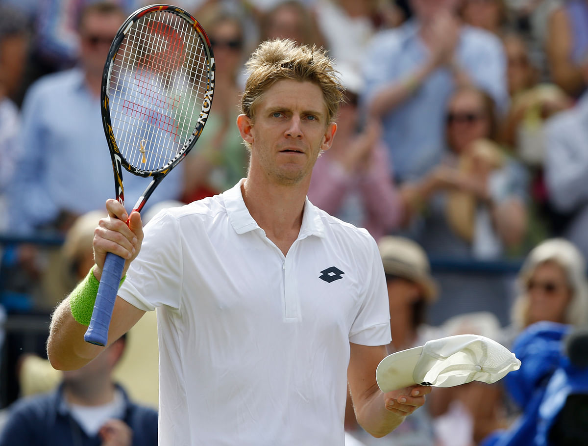 Kevin Anderson reacts after the win. (Photo: AP)