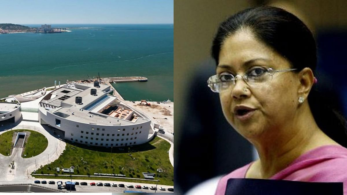 Left: The Champalimaud Foundation in Lisbon where Minal Modi is undergoing breast cancer treatment. Right: Rajasthan CM Vasundhara Raje is the latest to getcaught in the Lalit Modi storm (Photo: AFP)