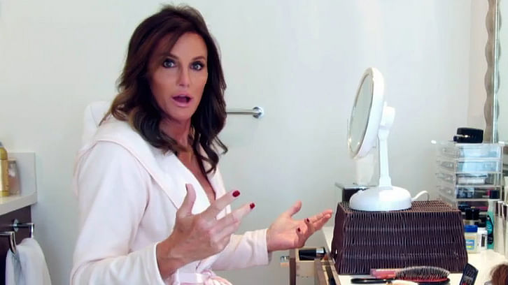 "This 2015 image provided by courtesy of E! shows Caitlyn Jenner in the first official promotional trailer for the new documentary series, ""I Am Cait,"" in Southern California.  (Photo courtesy: E! via AP)"