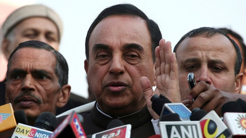 File photo of BJP leader Subramaniam Swamy. (Photo: Reuters)