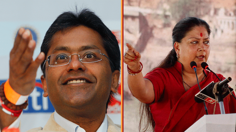 The relationship between Vasundhara Raje (R) and Lalit Modi (L) runs deeper than the two just being family friends. (Photo: Reuters/PTI)