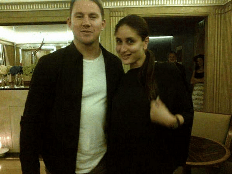 "Snapped: Channing Tatum with Kareena Kapoor Khan in London (Photo: <a href=""https://twitter.com/KareenaOnline"">Twitter/@kareenakapooronline</a>)"