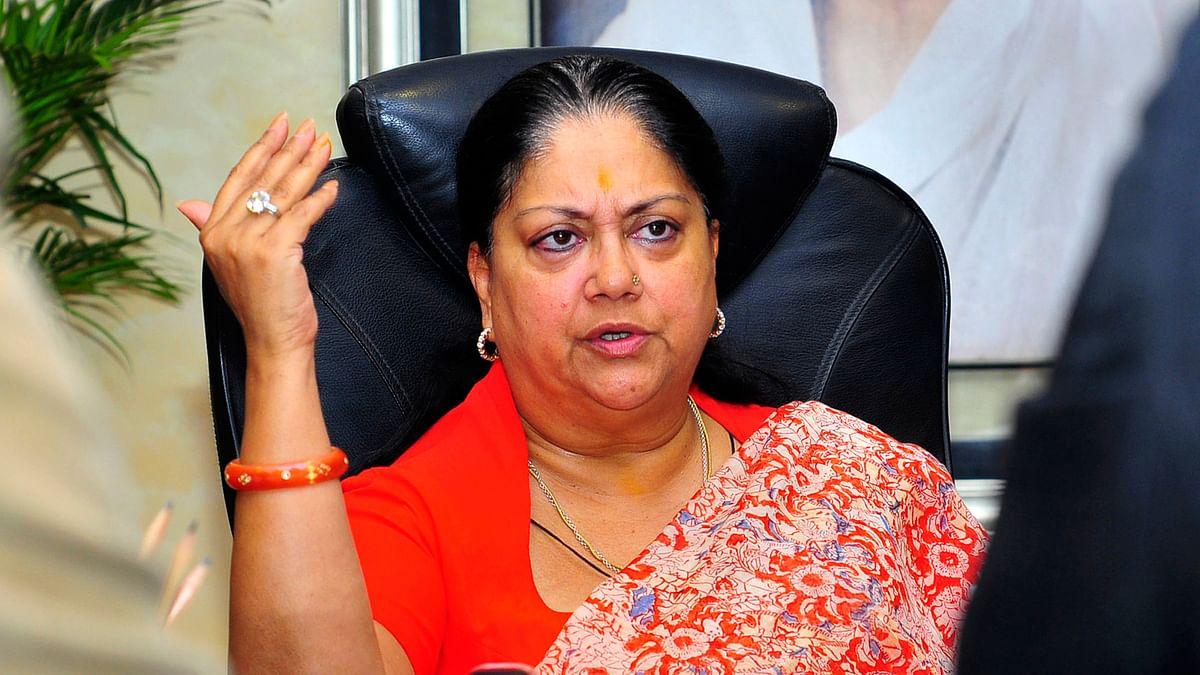 File photo of Vasundhara Raje.