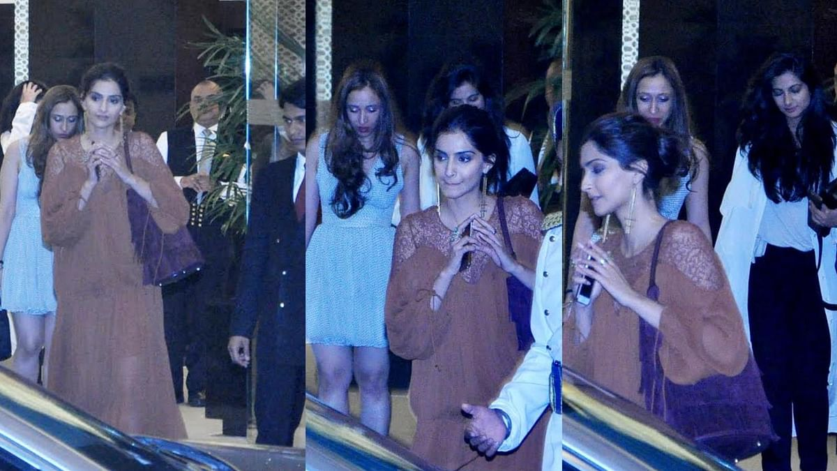 Sisters Sonam and Rhea Kapoor call it a day after partying hard (Photo: Yogen Shah)