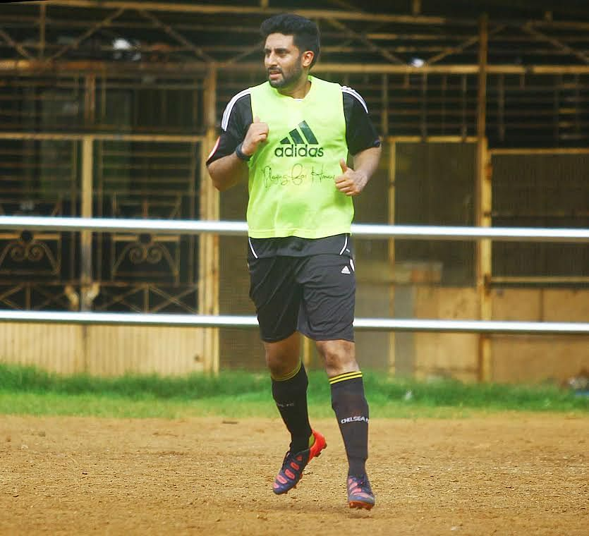 Jr Bachchan gears up for the practice match (Photo: Yogen Shah)