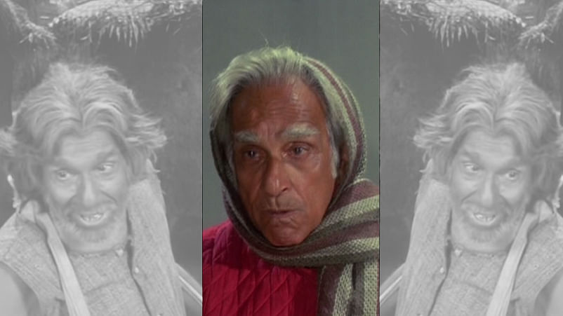Screen grab of Harindranath Chattopadhyay from <i>Bawarchi</i> flanked by his still from <i>Aashirwad.</i>