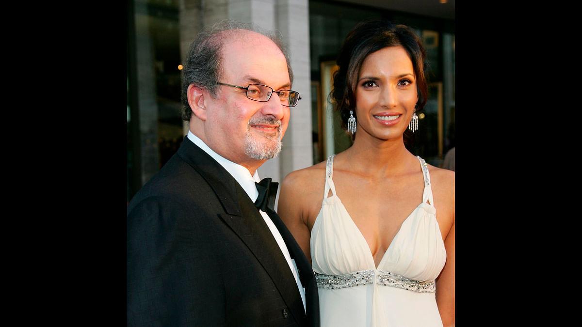Booker Prize winner Salman Rushdie with his ex-partner, model Padma Lakshmi, at the Metropolitan Opera 2006-2007 season opening night at Lincoln Center September 25, 2006 in New York City, (Photo: iStock)