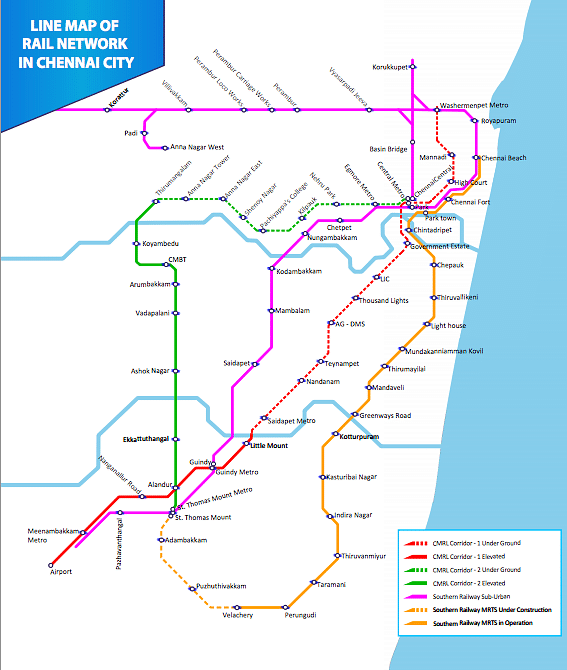 "Line map on the <a href=""http://chennaimetrorail.gov.in/linemap.pdf"">CMRL website</a>."