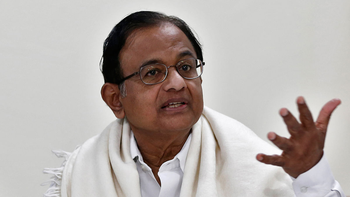 """Former Home Minister P Chidambaram was the first senior government official to use the term """"saffron terror. (Photo: Reuters)"""