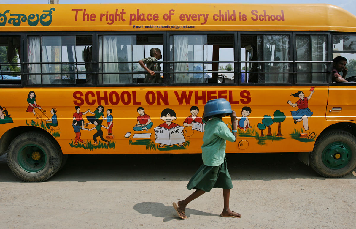 Several NGOs like Indus Action and Central Square Foundation are working towards providing education to children belonging to Economically Weaker Section (EWS) of society. (photo: Reuters)