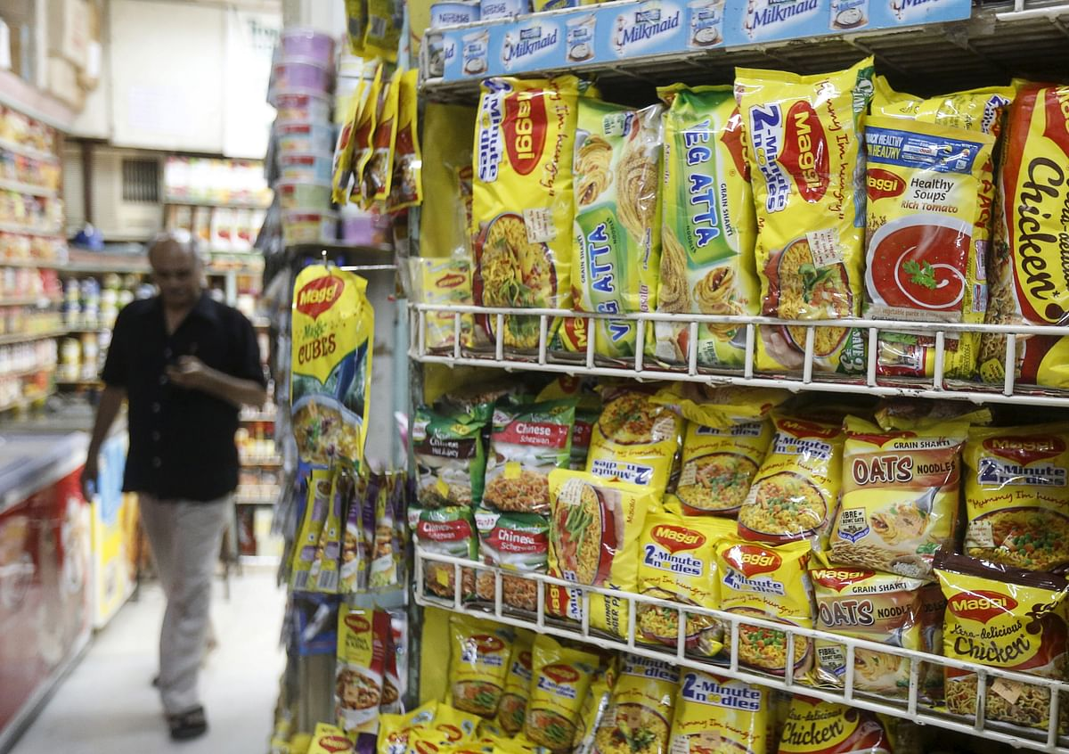 Packets of Nestle's Maggi instant noodles are seen on display at a grocery store in Mumbai, India, June 4, 2015. (Photo: Reuters)