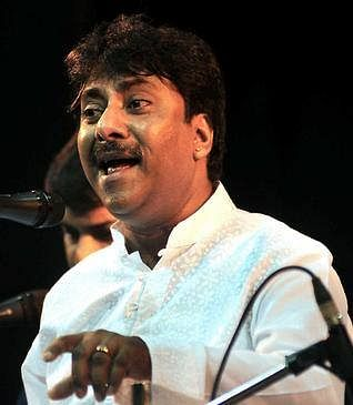 """Ustaad Rashid Khan during a performance. (Courtesy: <a href=""""https://www.facebook.com/pages/Ustaad-Rashid-Khan/92568358276"""">Ustaad Rashid Khan's Facebook page</a>)"""