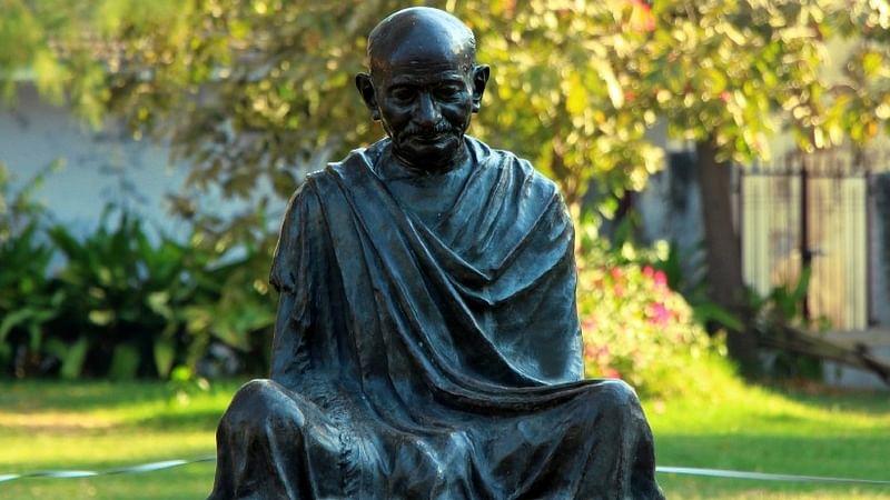 Representational statue of Mahatma Gandhi.