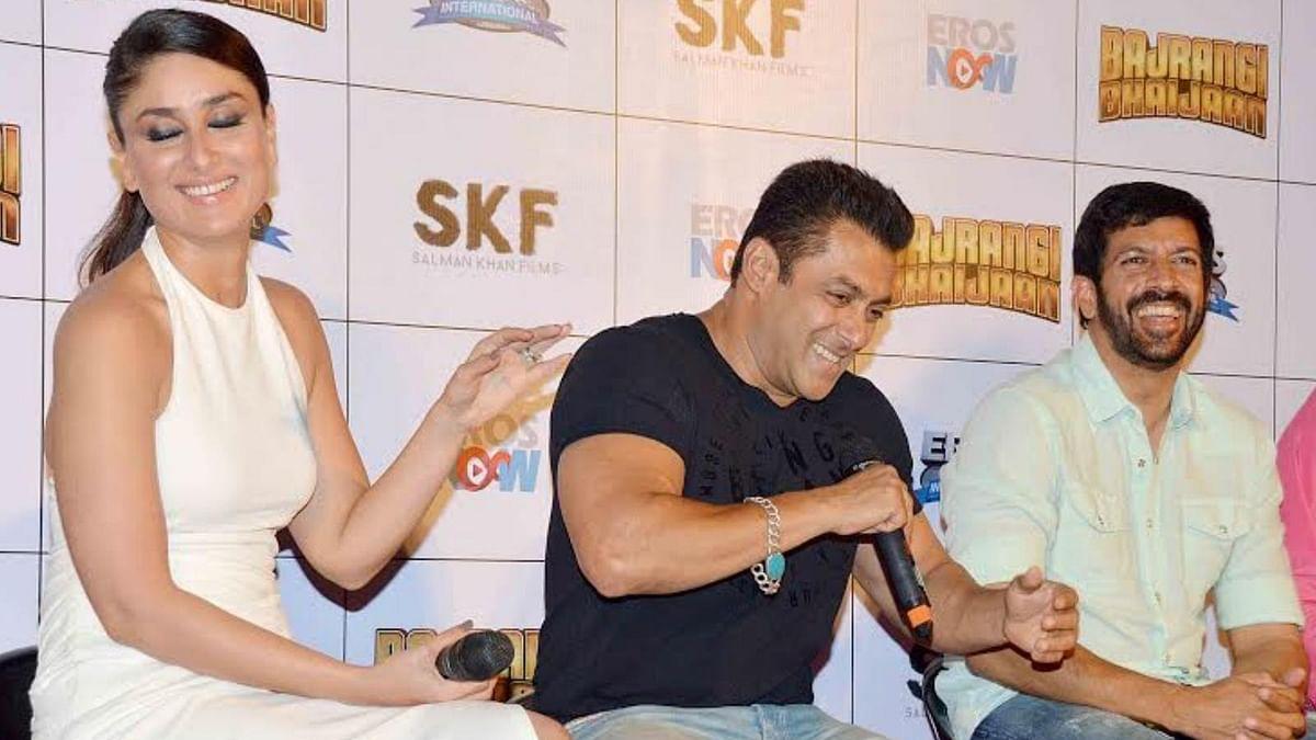 Salman Khan and Kareena Kapoor at the launch of the trailer of <i>Bajrangi Bhaijaan</i> (Photo: Yogen Shah)