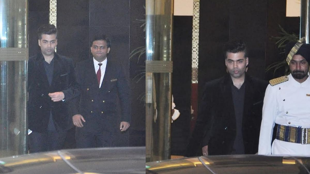 Karan Johar snapped leaving Arjun's party (Photo: Yogen Shah)