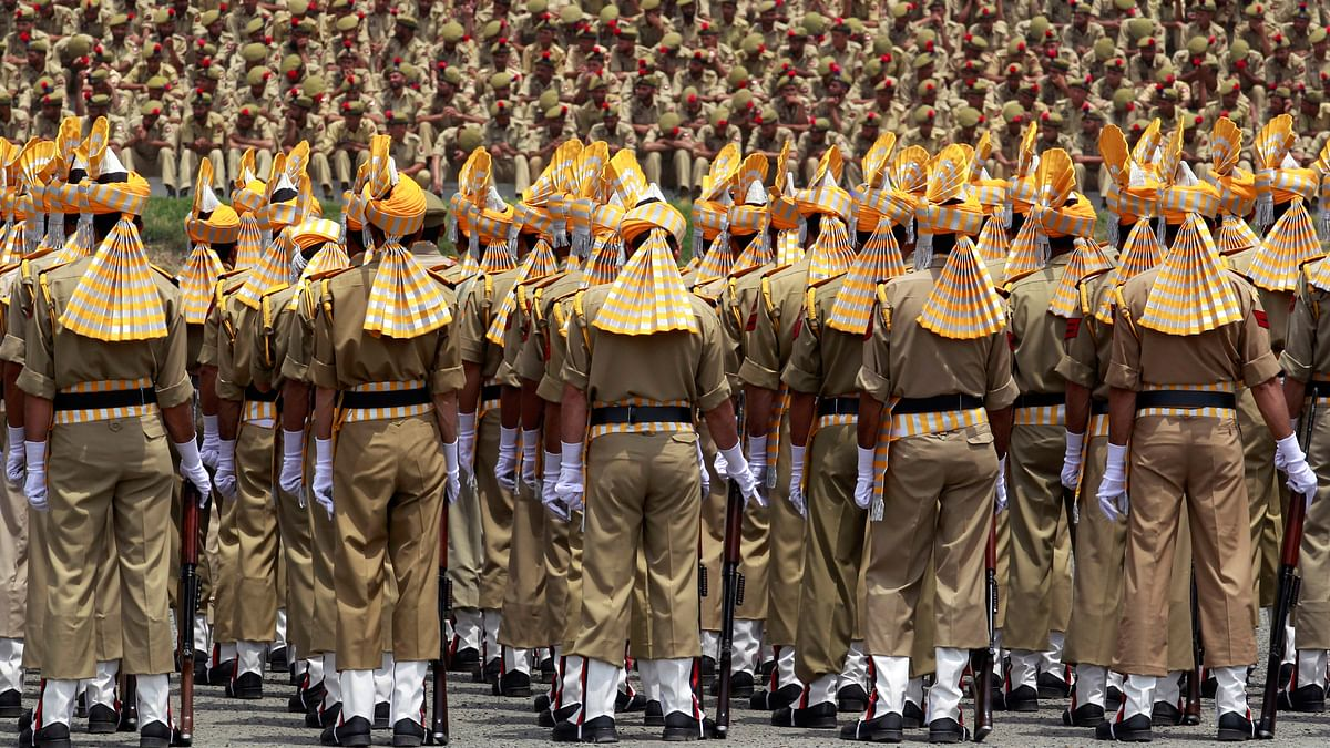 Indian Police at a parade. (Photo: Reuters)