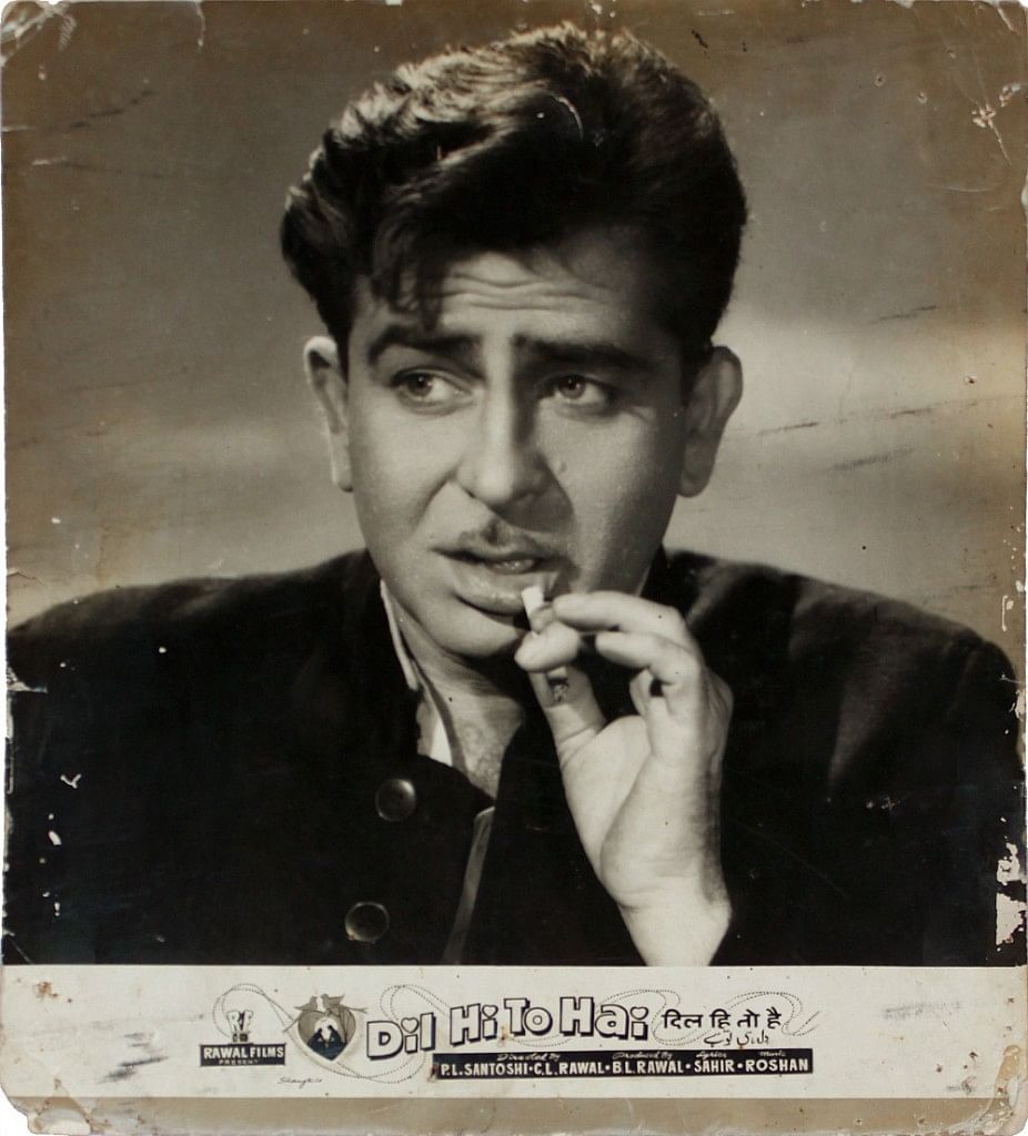 A rare cinema card of Raj Kapoor's <i>Dil Hi To Hai. </i>(Photo Courtesy: Twitter)