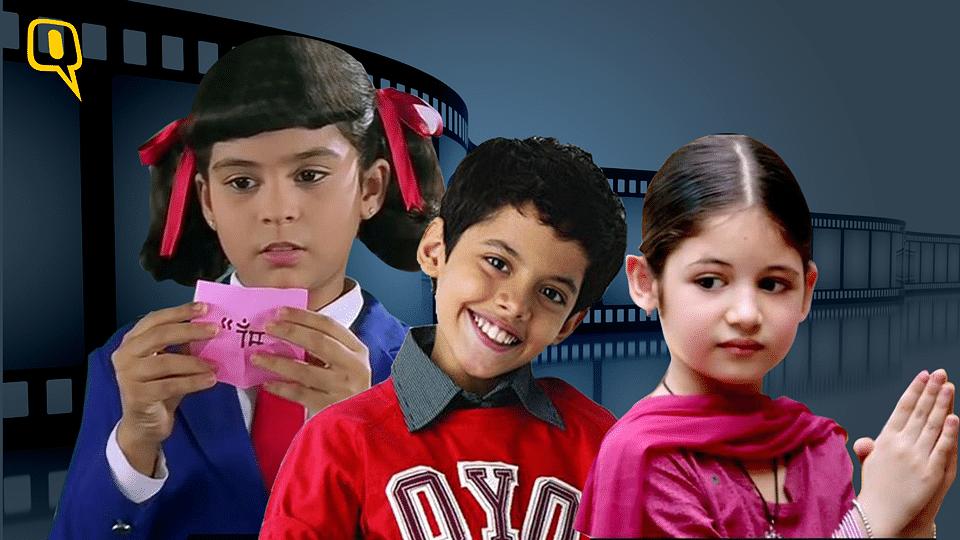 Left-Right: Sana Saeed, Darsheel Safary and Harshaali Malhotra&nbsp;(Photo: The image has been altered by <i>The Quint</i>)