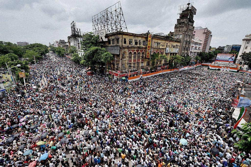 Martyr's Day rally in Kolkata. (Photo: PTI)