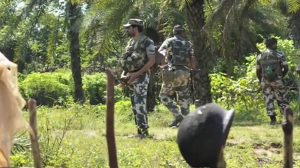 CRPF manning a Naxal-affected area in Chhattisgarh. (Photo: YouTube screengrab)