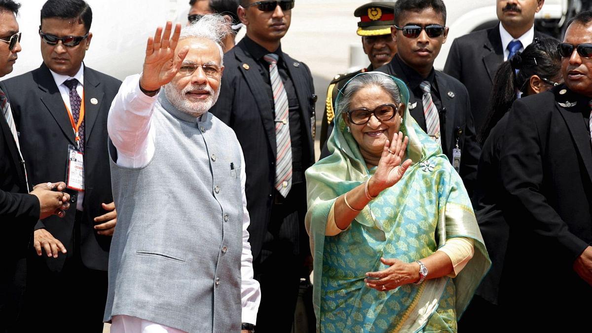 PM Narendra Modi with Bangladesh PM Sheikh Hasina (Photo: Reuters)