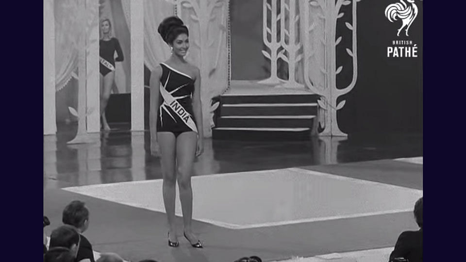 """In 1966, the world saw Reita Faria get crowned as India's first Miss World. (Photo Courtesy: <a href=""""https://www.youtube.com/watch?v=HM0uANcaanI"""">British Pathé</a>)"""