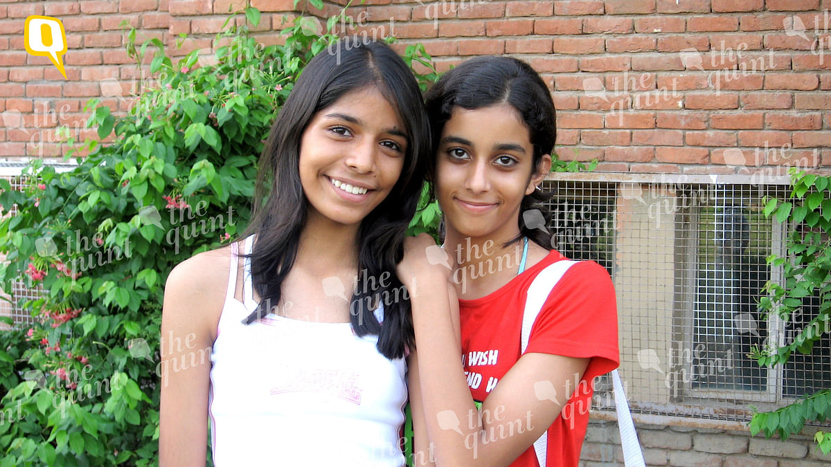 Fiza Jha (left) and Aarushi Talwar (right). This picture was taken by Fiza Jha at the dance class that the two of them attended together. (Photo: Fiza Jha)
