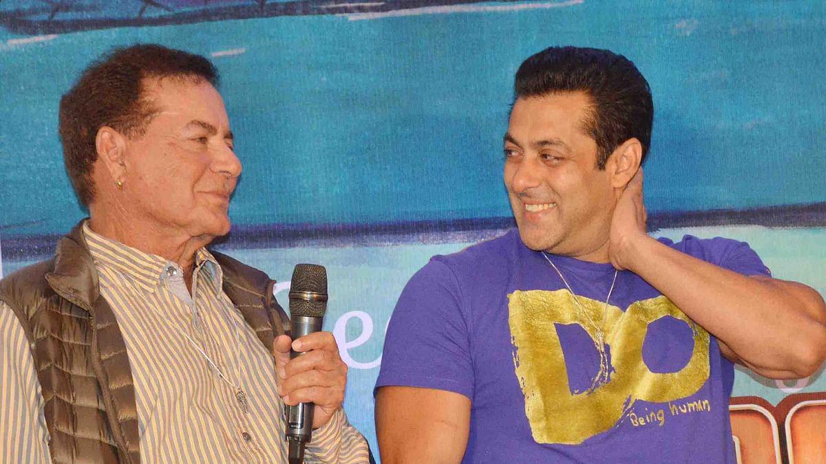 Salim Khan and Salman Khan at a promotional event (Photo: Yogen Shah)