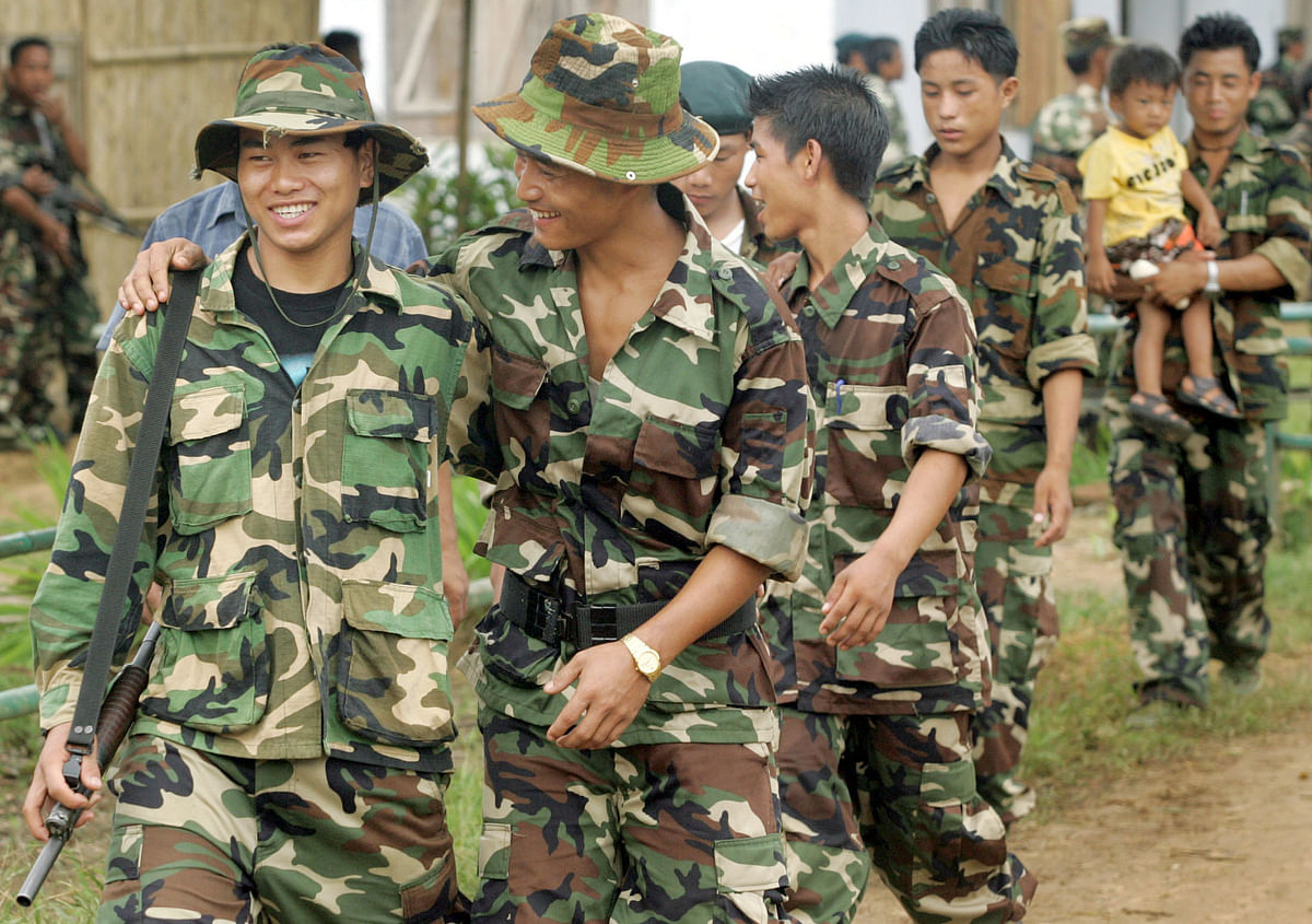 Naga rebels celebrate the unilateral day of independence (Photo: Reuters)