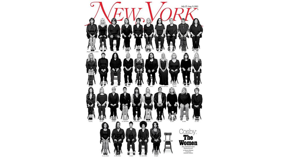 """The cover of New York magazine featuring 35 alleged rape victims of Bill Cosby (Photo: <a href=""""https://twitter.com/NYMag"""">Twitter/@NYMag</a>)"""