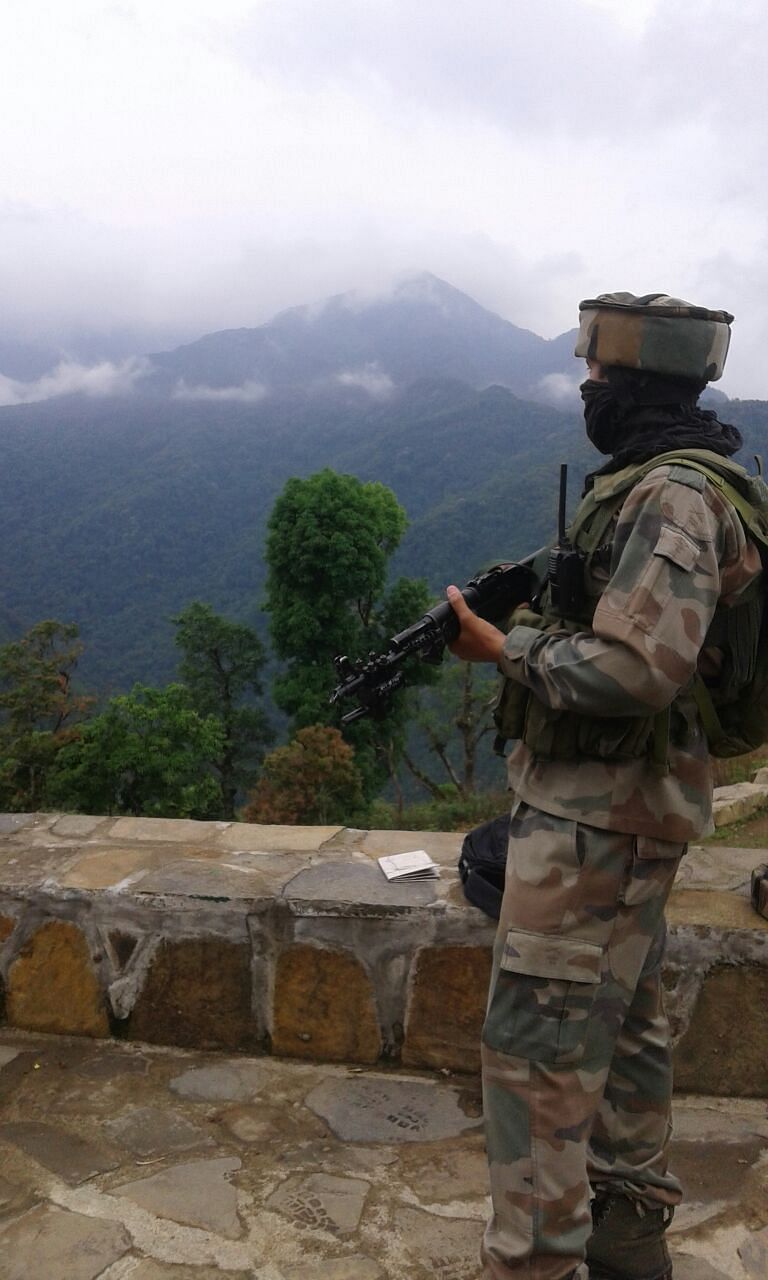 The 19 Assam Rifles stands guard in Kohima, in the wake of growing threats from the NSCN(K) (Photo: Shaswati Das)