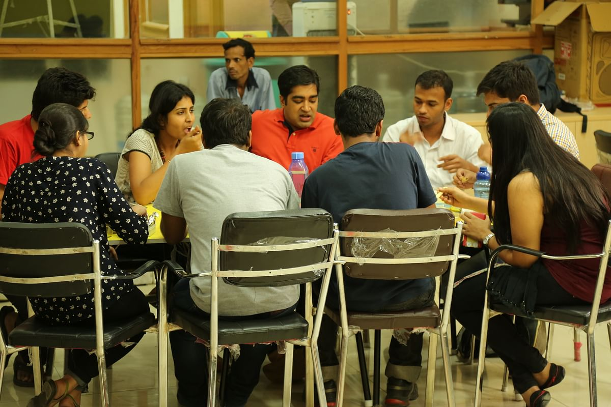 Different startups can have lunch together in a co-working space (Photo: The Quint)