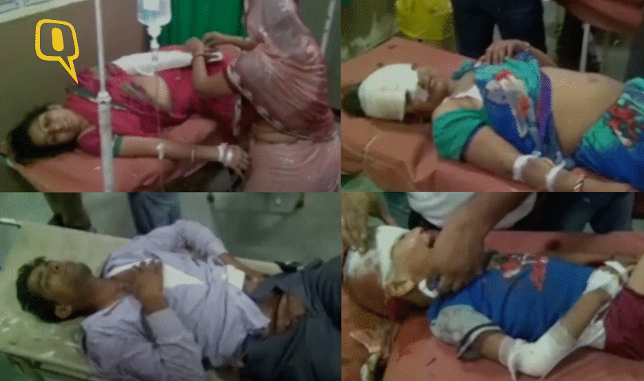 The Khandelwals were takento two separate government hospitals in Dausa after the accident. (Photo: ANI screen grab)